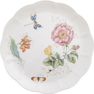 "Lenox Butterfly Meadow Dragonfly 11"" Dinner Plate"